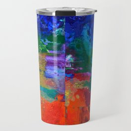 Orchestra, colorful organic abstract, NYC artist Travel Mug