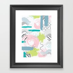 abstract elements pattern Framed Art Print
