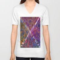 darren criss V-neck T-shirts featuring Criss Cross by RingWaveArt