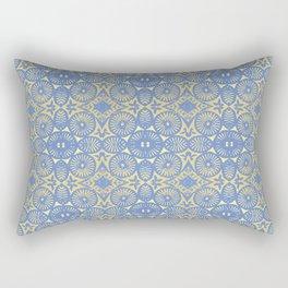 goldblue flowerpower 3 Rectangular Pillow