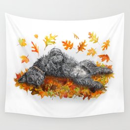 Scottie Dog Fall Fun Wall Tapestry
