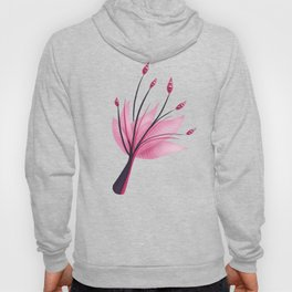 Pink Abstract Water Lily Flower Hoody