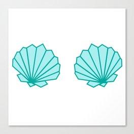 Mermaid Shell Bra Canvas Print