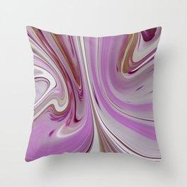 Pink Waves Throw Pillow