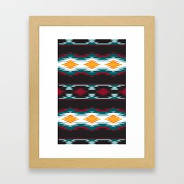 Native American Inspired Design Framed Art Print