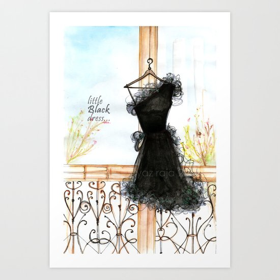 Little BLACK dress... Art Print