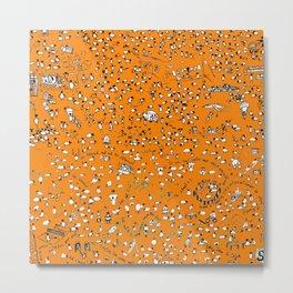Orange Sheep Lyons Metal Print