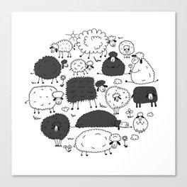 Funny sheeps Canvas Print