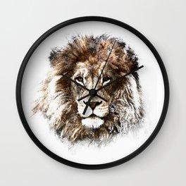Portrait: Lion Wall Clock
