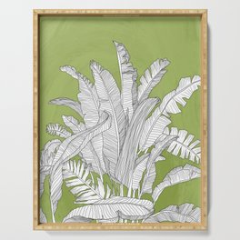 Banana Leaves Illustration - Green Serving Tray