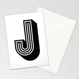 Letter J Stationery Cards
