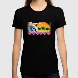 Hawaiian Surfing T-shirt