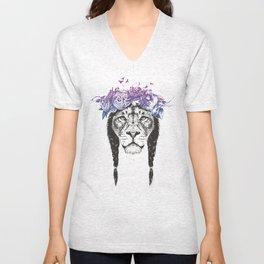 King of lions Unisex V-Neck