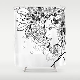With Flowers in Her Hair No. 5 Shower Curtain