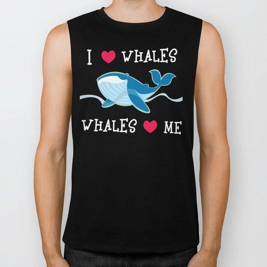 love whales Biker Tank