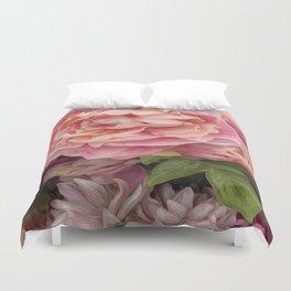 Oil Paint Flower Duvet Cover