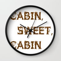 cabin Wall Clocks featuring Cabin, Sweet, Cabin by PhotoVista360