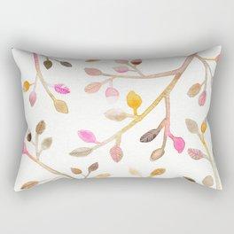 Pastel Leaves Rectangular Pillow