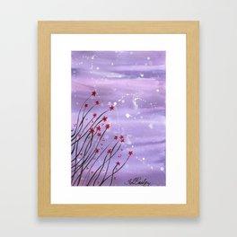 Starlit Flowers Framed Art Print