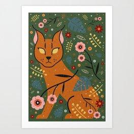 Caracal Cub Art Print