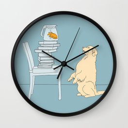 To Swim with a Fish Wall Clock