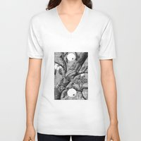 snail V-neck T-shirts featuring Snail by ahatom