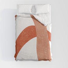 Terracotta Art Print 6 - Terracotta Abstract - Modern, Minimal, Contemporary Print - Burnt Orange Duvet Cover