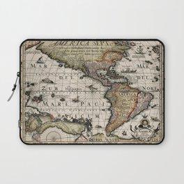 Map Of America 1614 Laptop Sleeve