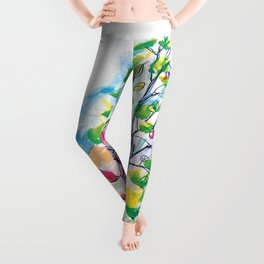 Looking out of the window, illustration for kids, fairytale painting Leggings