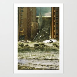 Water vs City Art Print