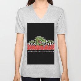 dinosaur mascot. Unisex V-Neck