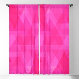 Bright pink triangles in intersection and overlay. Blackout Curtain