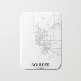 Minimal City Maps - Map Of Boulder, Colorado, United States Bath Mat