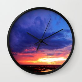 Evening's Face Wall Clock