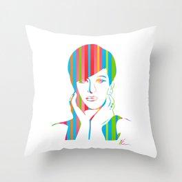 Barbra Streisand | Pop Art Throw Pillow