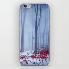 winter forest with birds iPhone & iPod Skin