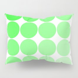 Green Circle Color Chart Pillow Sham