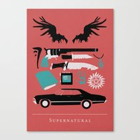 supernatural Canvas Prints featuring Supernatural by Abbie Imagine