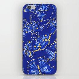 Butterfly Pattern Blue iPhone Skin