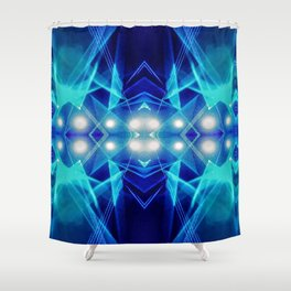 iDeal - Electric Blues Shower Curtain