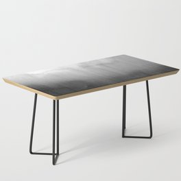 Modern Black and White Watercolor Gradient Coffee Table