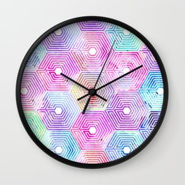 purple OVERDOSE Wall Clock