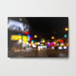 Bokeh Viper Room Sunset Blvd. Metal Print