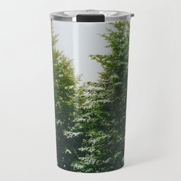 Winter Pine Tree Forest (Color) Travel Mug
