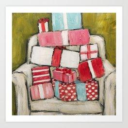 Pile of Presents by Trish Jones Art Print