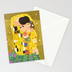 The Kiss (Lovers) by Gustav Klimt  Stationery Cards