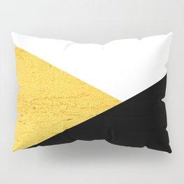 Gold & Black Geometry Pillow Sham