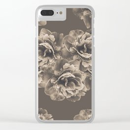 Sepia Peony Flower Bouquet #1 #floral #decor #art #society6 Clear iPhone Case
