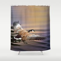 return Shower Curtains featuring The Return by Art & Photography