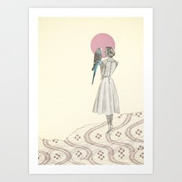 A Bird in the Hand Art Print